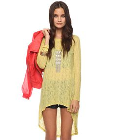 Great yellow overlay. Something comfy to wear over jeans to go to a coffee shop, over pajama pants for an afternoon of reading, or over a bathing suit at the shore.
