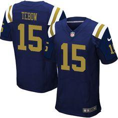 586bde53e Elite Mens Nike New York Jets  15 Tim Tebow Alternate Navy Blue NFL Jersey   129.99