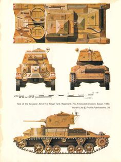 Vickers A9 Cruiser tank - obsolete by the end of 1941, it had some interesting if flawed, design concepts.