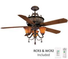Chandelier ceiling fan combo.  (A good compromise for the master bedroom?)
