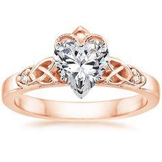 14K Rose Gold Celtic Claddagh Ring