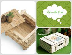 pudełko z patyczków od lodów diy Techno, Diy, Frame, Inspiration, Sticks, Design, Inspire, Home Decor, Google