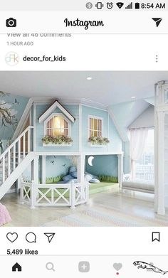 little girls bedroom or play room. - - room, Cute little girls bedroom or play room. - - room, Cute little girls bedroom or play room. Cute Bedroom Ideas, Girl Bedroom Designs, Awesome Bedrooms, Cool Rooms, Bed Ideas, Small Rooms, Loft Ideas, Bed Designs, Nursery Ideas