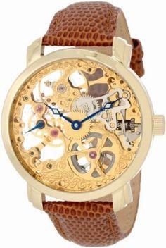 "Dazzling Akribos XXIV Men's AK406YG ""Bravura Davinci"" Skeleton Watch https://www.myskeletonwatches.com/product/akribos-xxiv-mens-ak406yg-bravura-davinci-skeleton-watch/ #Akribos #SkeletonWatch"