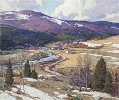 """March Winds, Vermont,"" Aldro T. Hibbard, oil on canvas, 34 1/4 x 40"", private collection."