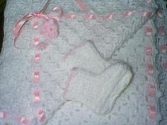 Christening Baby Blanket and Knitted