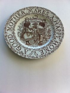 Vintage Royal Crownford Good Mother Plate 1977 by Pesserae on Etsy, $10.00
