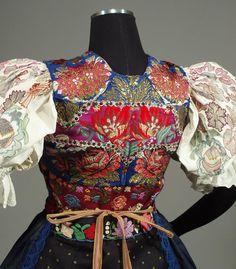 ETHNIC BROCADE VEST Slovak Folk Costume Detva kroj peasant bodice boho European | eBay