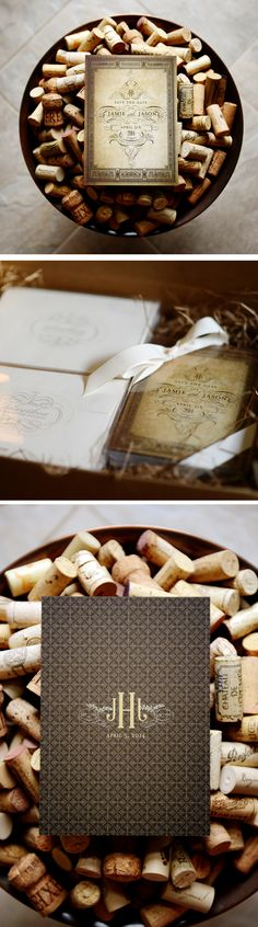 Rustic Save the Date design by Silverbox Dory---this could be really cute bc you're getting married at a winery :)