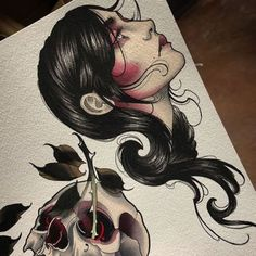 New post on tattinitup Pin Up Tattoos, Body Art Tattoos, Girl Tattoos, Tattoos For Women, Old Tattoos, 1 Tattoo, Dark Tattoo, Tattoo Blog, Tattoo Sketches