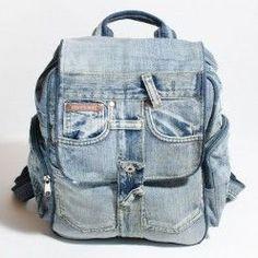 Jean Backpack, Backpack Bags, Old Jeans, Denim Jeans, Recycled Denim, Denim Bag, Textiles, Backpacks, Purses