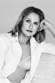 Icon + actress Lauren Hutton wears the Sheer Marquisette lightly lined demi bra, as seen in the Spring 2017 Women's Calvin Klein Underwear campaign. Sheer fabrics + shaping lift, with subtle logo detailing.