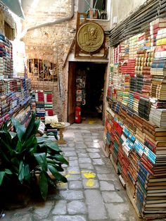 """Perhaps that is the best way to say it: printed books are magical, and real bookshops keep that magic alive.""–Jen Campbell, The Bookshop Book. (Photo: Libreria Acqua Alta bookshop in Venice, Italy) ❤ Oh The Places You'll Go, Places To Travel, Places To Visit, Book And Coffee, Rome Florence, Ansel Adams, To Infinity And Beyond, Toscana, I Love Books"