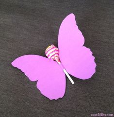 carte anniversaire papillon sucette