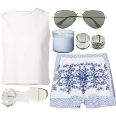 391 by original-kids on Polyvore featuring polyvore fashion style Giambattista Valli Collette By Collette Dinnigan H&M Ray-Ban