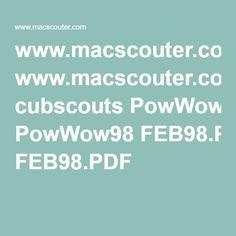 www.macscouter.com cubscouts PowWow98 FEB98.PDF