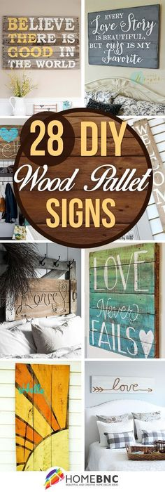 DIY Pallet Wood Sign Ideas #BestWoodworkingProjectsToSell