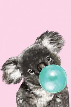 Canvas Art Prints, Framed Art Prints, Pink Framed Art, Tres Belle Photo, Blowing Bubbles, Green Art, Animal Wallpaper, Bubble Gum, Cute Wallpapers