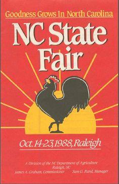 NC State Fair programs 1986 - 1988 ^cs