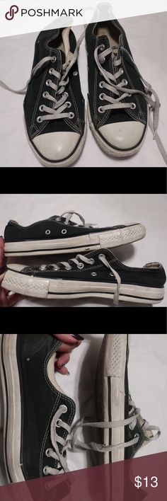 Converse Converse low tops. All damages pictured above. They are def worn but still good and useable. Price negotiable. Converse Shoes Sneakers