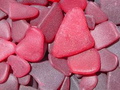 Red sea glass from the beaches of Puerto Rico. I wanna go to Puerto Rico! Sea Glass Beach, Beach Stones, Sea Glass Art, Sea Glass Jewelry, Stained Glass, Puerto Rico, Mermaid Tears, Sea Glass Crafts, Pebble Art