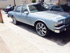 """87 Chevy Caprice Classic #Police #Impound #Special  22"""" rims   2995.  Paducahcars 622 south 6th paducah ky   415-987-6706"""