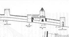 Stadtmauer nach Gelbingen ausgerichtet  Schwäbisch Hall