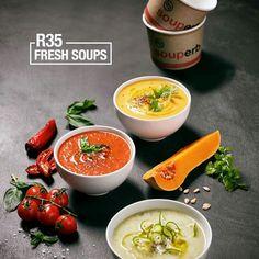 Have a fresh Veggie Soup at your nearest cafe. vida e caffé ( Veggie Soup, Health Goals, Soul Food, Thai Red Curry, Veggies, Lunch, Healthy Recipes, Meals, Fresh
