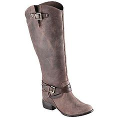 $130 Call It Spring™ Skillington Leather Riding Boots - jcpenney