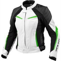 Rev It! Leather Jacket Xena Ladies - White Green Black