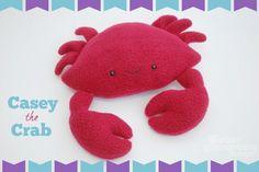 DIY Felt Crab - FREE Sewing Pattern and Tutorial