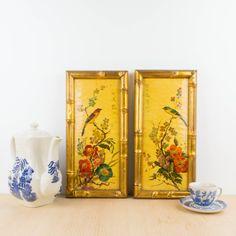 Pareja de cuadros estilo Chinoiserie | Antic&Chic