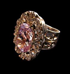 SKU # | 18k WG RING w/ KN, DIA | Ring with kunzite 22.0ct total weight and 80 diamond 0.7ct total weight, in white gold | size medium, total weight 29.54gr, weight gold 25.0gr | exlusive jewelry designed by Andrey Gorodnichev | #JewelryPinterest #exlusive #jewelry #ring #18k #gold #whitegold #wg #gemstone #carat #ct #kunzite #kn #diamond #dia jewelry.production1997@gmail.com