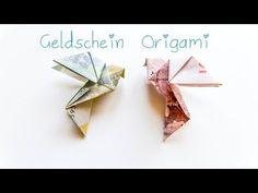 ▶ DIY Geldschein Origami Vogel - Geschenkidee - YouTube  Kann man auch mit Papier als Ohrring machen, das Ganze am Ende mit Klarlack versiegeln!