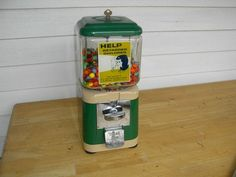 Vintage Acorn Candy / Gumball Vending Machine