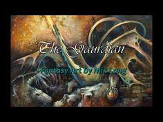 Fantasy Art, Painting 'The Guardian' Playmat, Dragon, Michael Lang MTG - YouTube
