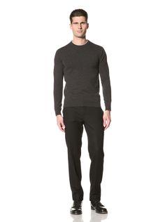 Pringle of Scotland Men's Cashmere Crew Neck Sweater (Charcoal) #Sweater #Pullover #Shirt #Men #ShirtsSweaters