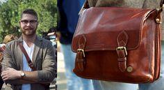 Mustache and Leather Mustache, Messenger Bag, Ali, Satchel, Street Style, Leather, Fashion, Moda, Moustache