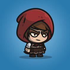 Medieval Hooded Girl