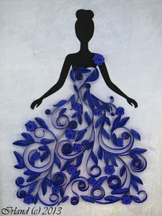 Irlandaise: Lady in Blue! Flower Dress