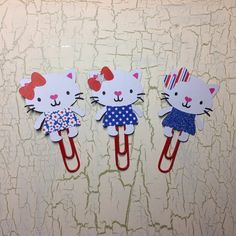 A personal favorite from my Etsy shop https://www.etsy.com/listing/400185723/patriotic-white-kitty-planner-clip