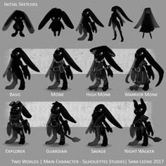 Main Character - Silhouettes Studies