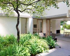 Courtyard House, Facade, Pergola, Wellness, Outdoor Structures, Construction, Profile, Street, Garden