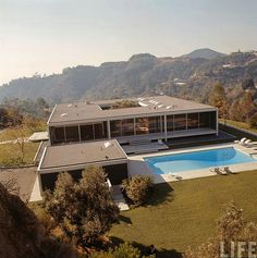 super amazing awesome house. mid century modern, internal garden central.