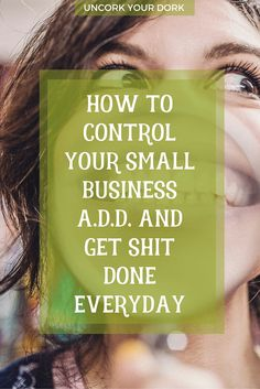"""Keeping Focused In Small Business: The Focus Has Officially Screwed Me""  When you can't keep your focus during the workday, try these tips and tricks!"