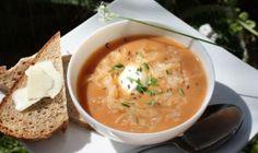 Heidi Klum's - My Grandmother's Sauerkraut Soup (this sounds good but sounds like 1000 island dressing soup)