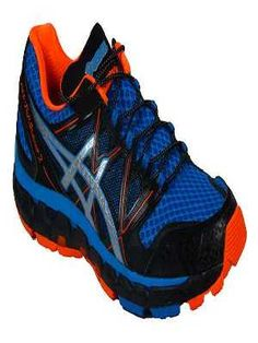 #Scarpe #Uomo #Trail #Running #Asics Gel-fujisensor 2 Blue Silver Neon Orange Man €105.09