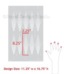 African Plumes Wall and Furniture Stencil by royaldesignstencils