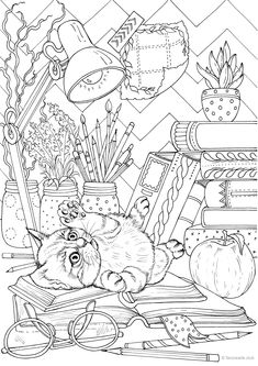 Tumblr Coloring Pages, Fall Coloring Pages, Dog Coloring Page, Free Adult Coloring Pages, Mandala Coloring Pages, Coloring Books, Mindfulness Colouring, Christmas Colors, Zentangle