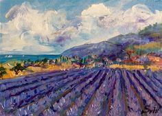 "Daily+Paintworks+-+""Provence+lavender""+-+Original+Fine+Art+for+Sale+-+©+Sonia+von+Walter"
